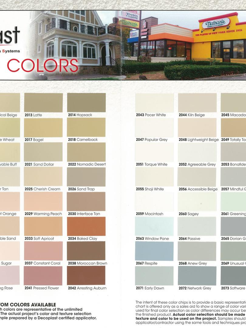 Decoplast Color Chart