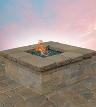 Olde English Square Gas Firepit