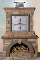 Stone Veneer Pizza Oven