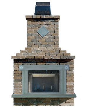 Olde English Paver Fireplace