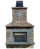 Olde English Paver Fireplace