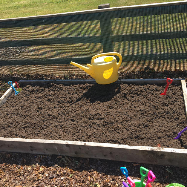 Our vegetable patch ready for planting.