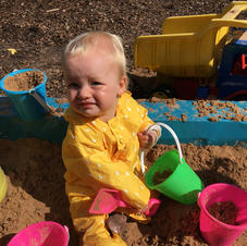 Fun in the sand pit.
