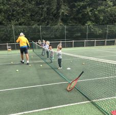 Tennis lessons with our coach.