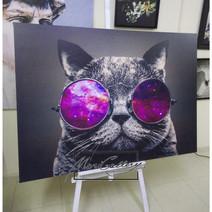 Постер Кот в очках