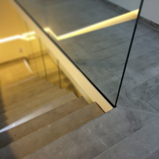 Sanded Marengo Grey stairs.