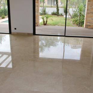 Salón Crema Marfil marmol