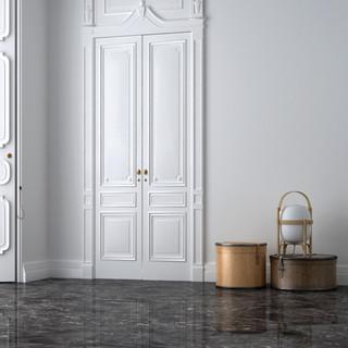 Floor with Laguna Black marble