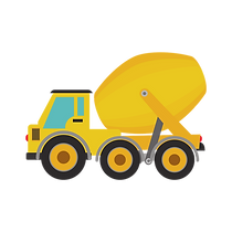 concrete truck graphic