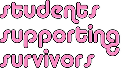 students supporting survivors-pink-word.