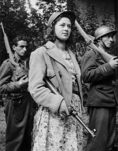 Groupe de maquisards, photographie prise à l'été 1944 @Agence France Presse