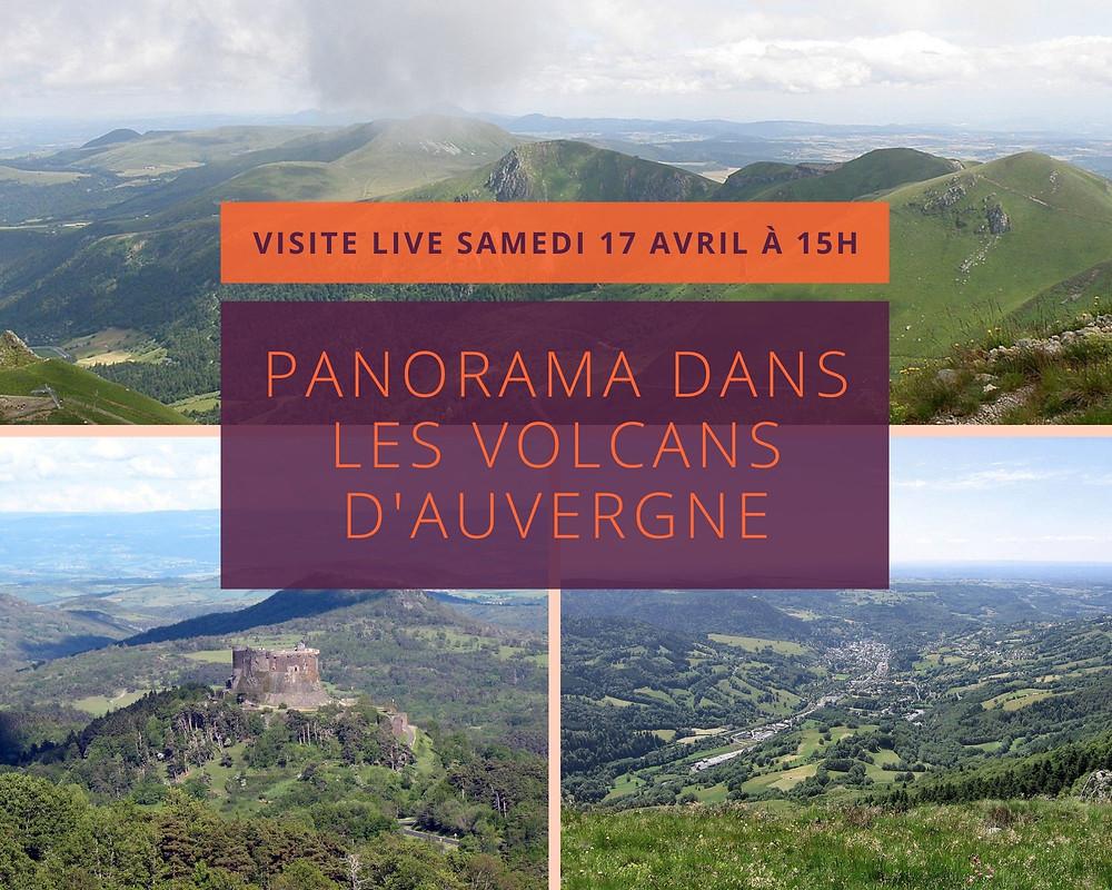 Vues de certains paysages d'Auvergne