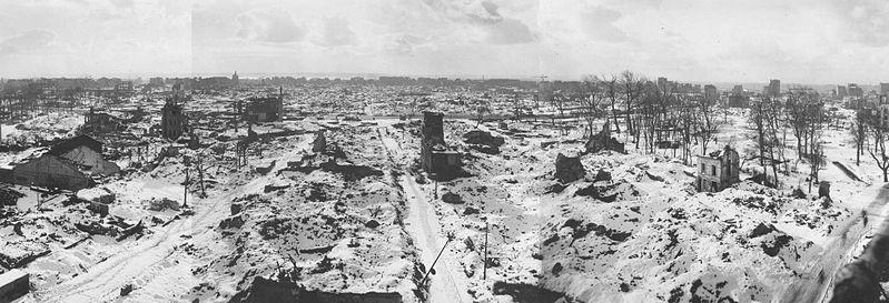 Photo de la ville du Havre après les bombardements
