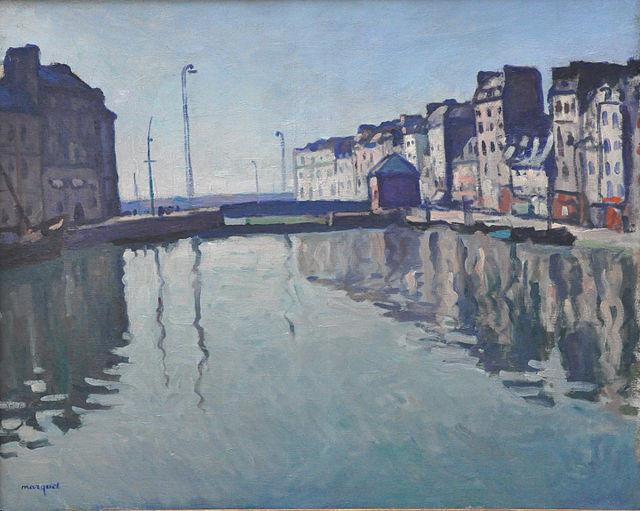 Tableau d'Albert Marquet Bassin du Roy (Le Havre), 1906