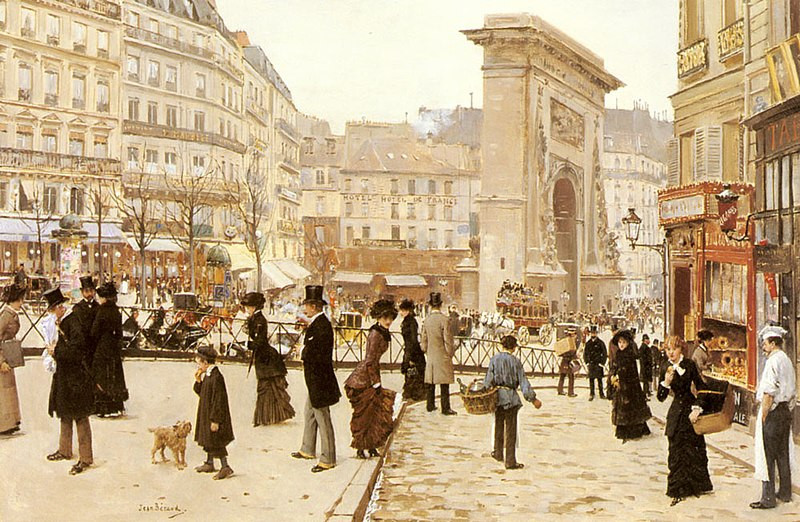 Tableau, Le Boulevard Saint Denis à Paris, Jean Béraud av 1935