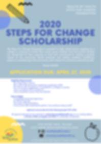 2020 Steps For change Scholarship Flyer.