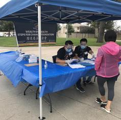 Volunteers registering patients