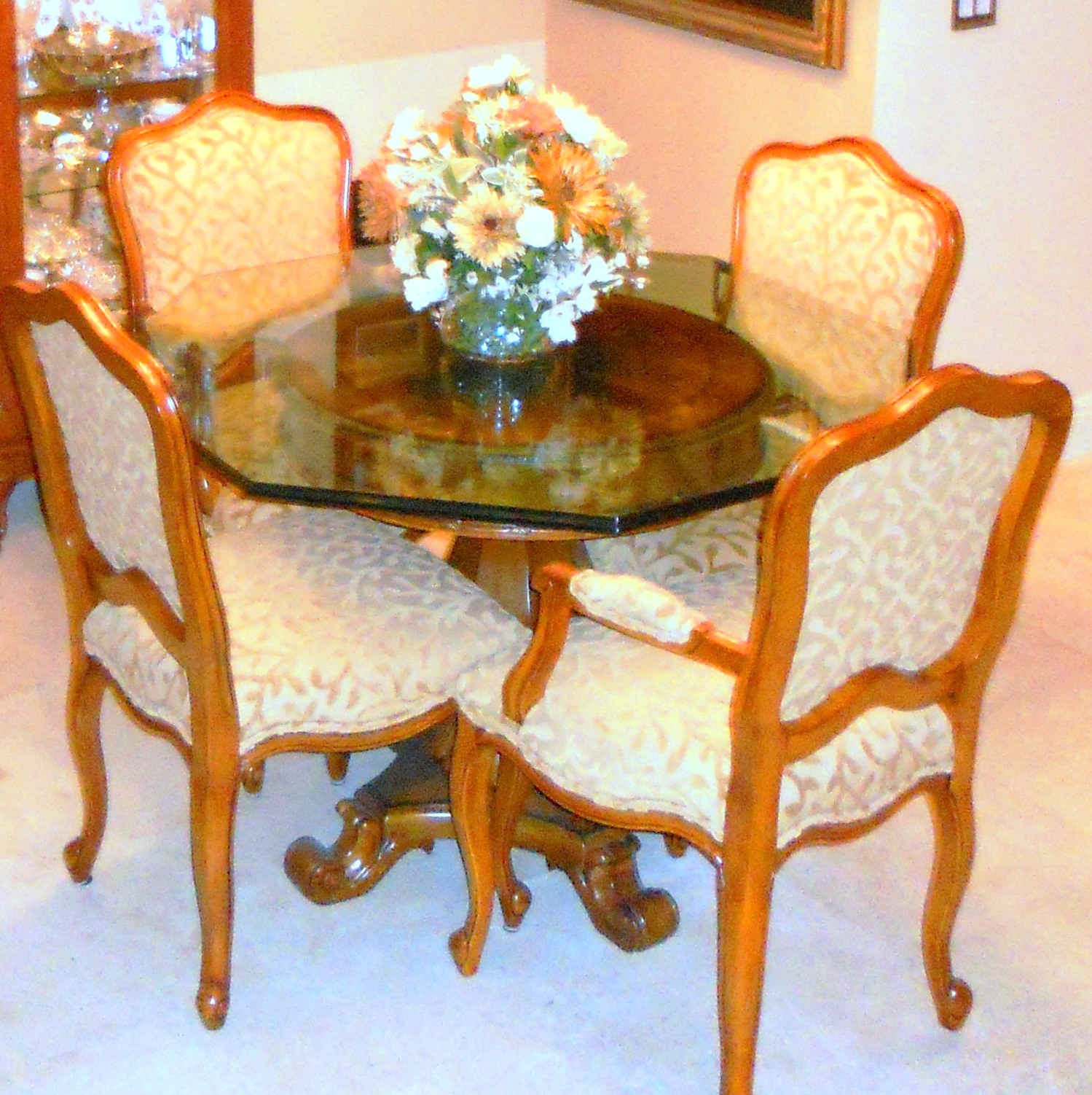 french modern dining room set