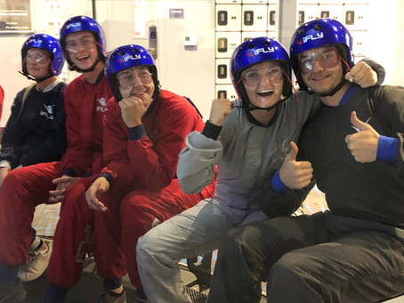 The team had a great time at iFly