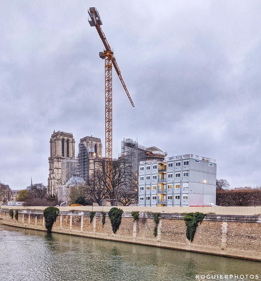 photo prise avec le Pixel 5 de google - Paris - la grue de Notre Dame - roguierphotos