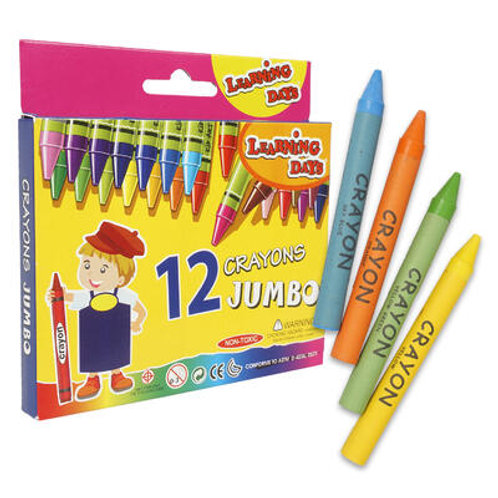 12 Piece Jumbo Learning Days Crayons