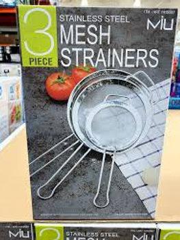 Mesh Strainer 3pc Set