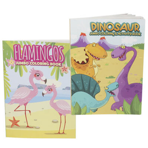 Flamingos & Dinosaurs combo Coloring & Activity Book