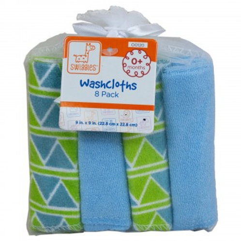 8pk Swiggles Washcloth Set