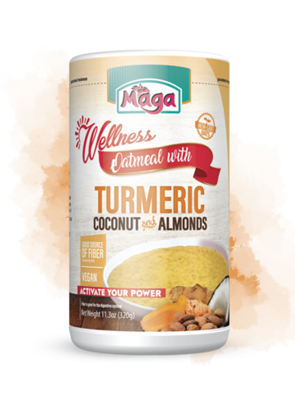 Maga Oatmeal with Tumeric, Almonds, and Coconut 32oz