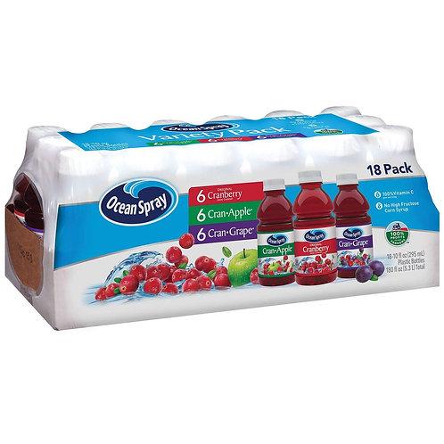 Ocean Spray Juice Drink Variety Pack 10 oz, 18 pk.