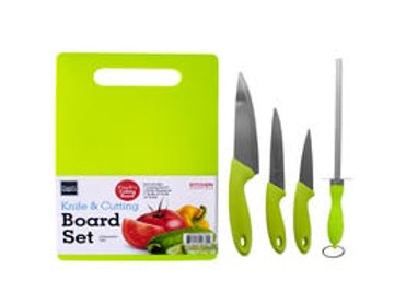 Knife & Cutting Board Set- Pink