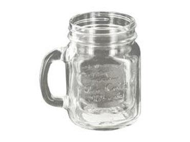 Vintage Style Clear Mason Drinking Jar 16oz