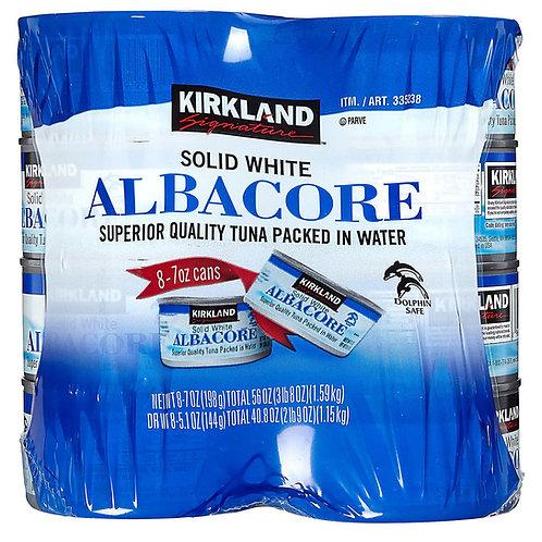 Kirkland Signature Solid White Albacore Tuna in Water, 7 oz, 8-count