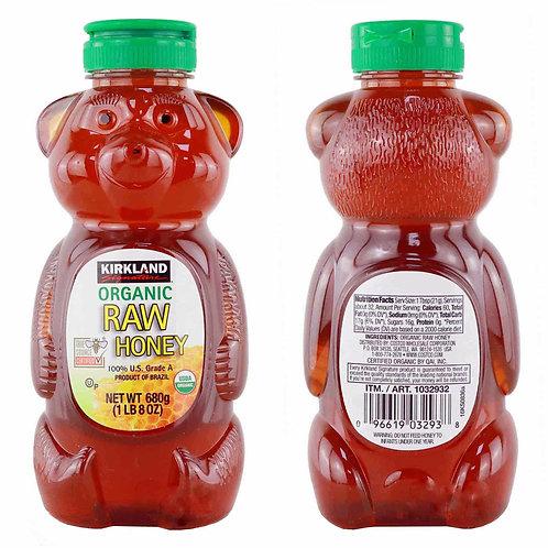 Kirkland Signature Organic Raw Honey Bear 8oz