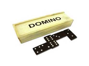 Mini Kids Domino Set in Wooden Box