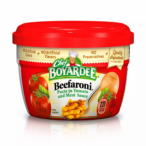 Chef Boyardee Beefaroni Cup 7.5 oz