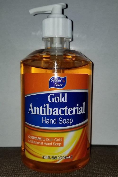Global Care Gold Antibacterial Hand soap -16oz