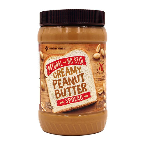 Natural No Stir Creamy Peanut Butter Spread 40 oz