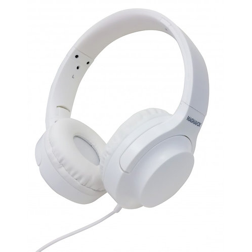 MAGNAVOX Extreme Bass Foldable Stereo Headphone in White