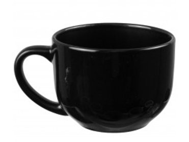 18 OZ Black Stylish Ceramic Soup Mug