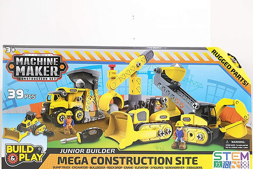 Build & Play Machine Maker Construction 39pcs