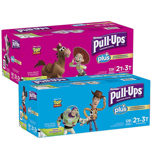 Huggies Pull-Ups Plus Training Pants for Boys or Girls
