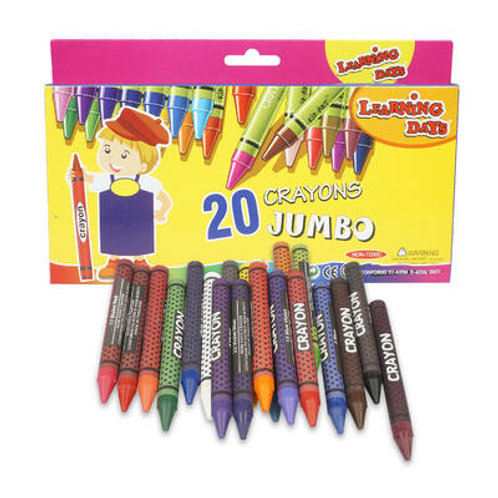 20 Piece Learning days Jumbo Crayons Pack