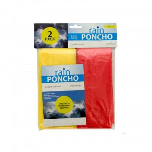 Emergency Rain Ponchos 2pc