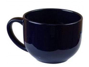 18 OZ Navy Stylish Ceramic Soup Mug