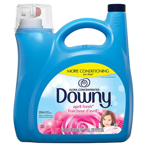 Downy Ultra Concentrated HE Fabric Softener, April Fresh, 204 loads, 138 fl oz