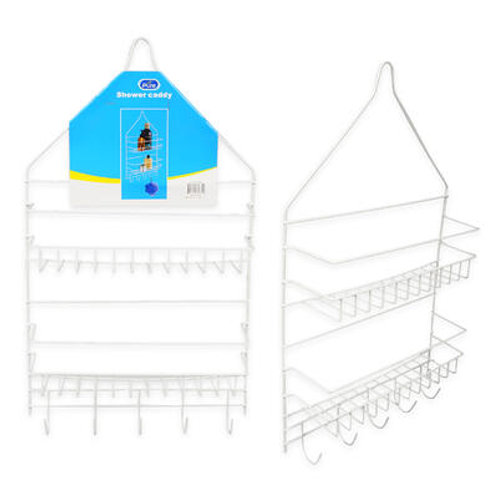 "20"" White 2 Tier Shower Caddy"