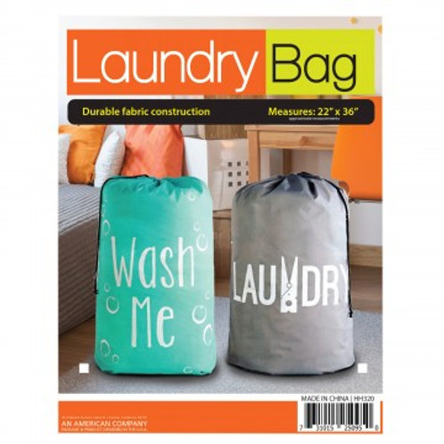 Large Printed Drawstring Laundry Bag