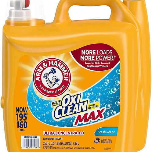 Arm & Hammer Liquid Laundry Detergent, Fresh Scent, 195 load