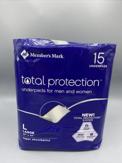"""Total Protection Underpads, 23"""" x 36"""""""